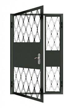 железная дверь в тамбур решетка